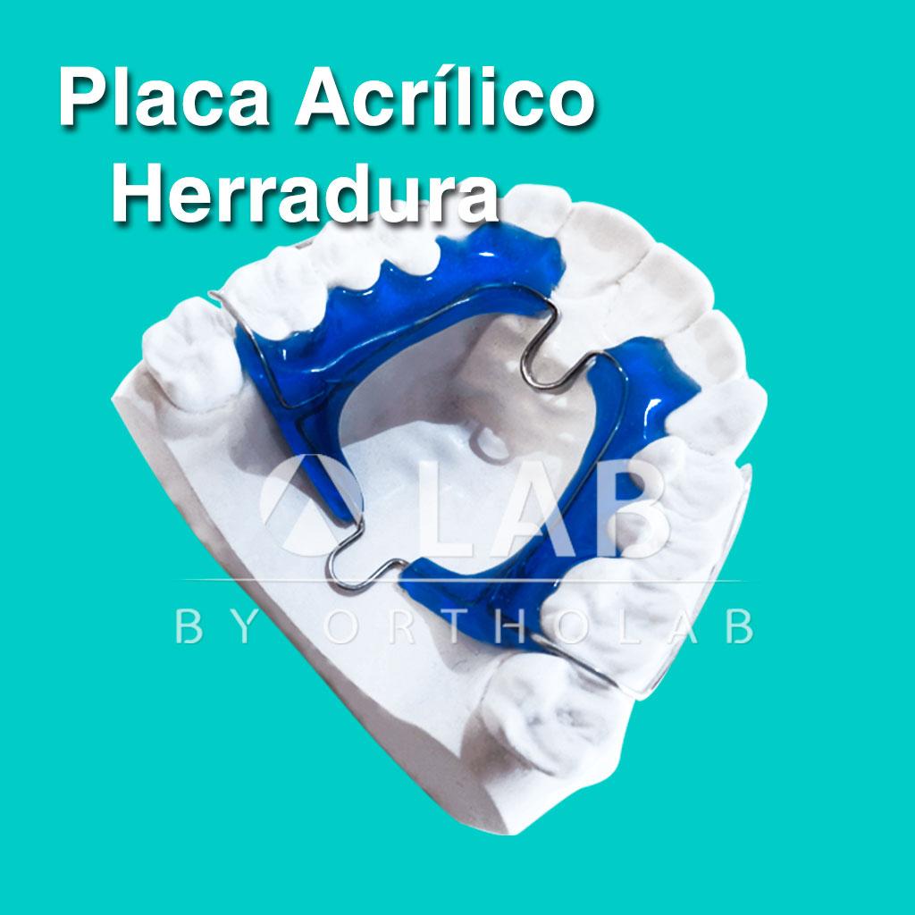 Placa Arcrilico con Herradura Aparatologia ortodoncia Placas Activas