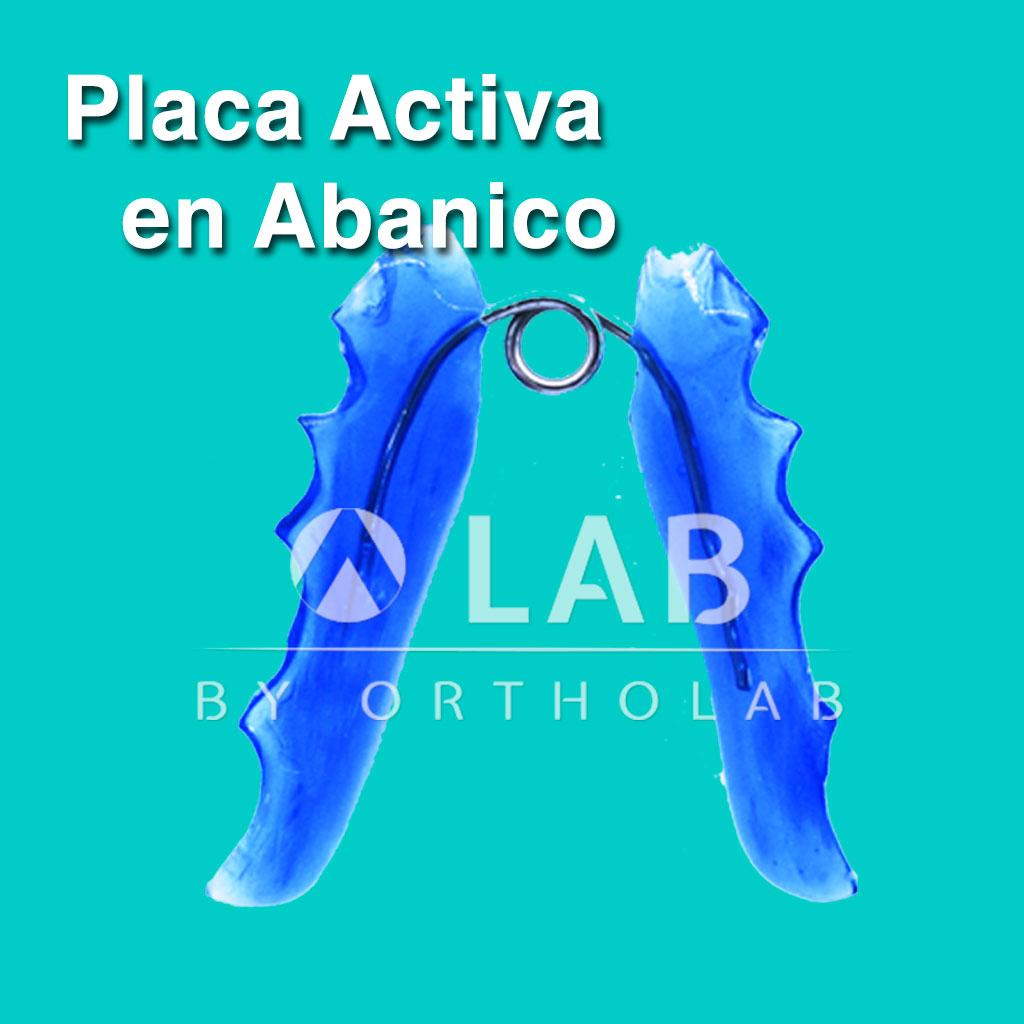 Placa Actica en Abanico Aparatologia Ortodoncia Placa Activa