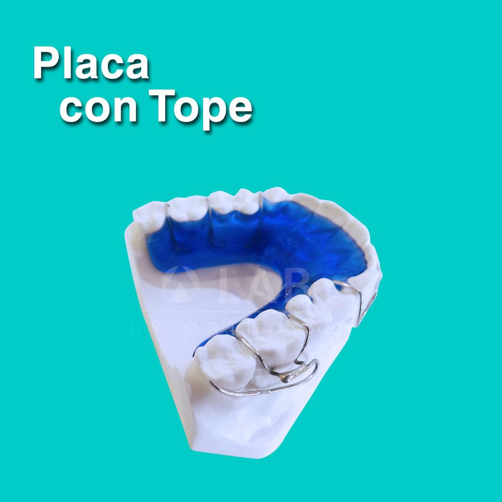 Placa con Tope - Aparatología Placas Activas