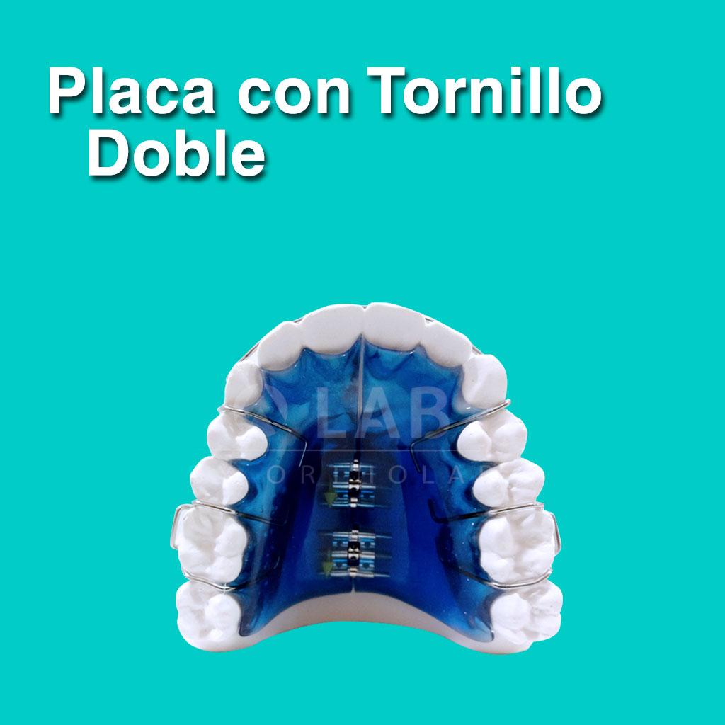 Placa con Tornillo Doble - Aparatología Placas Activas