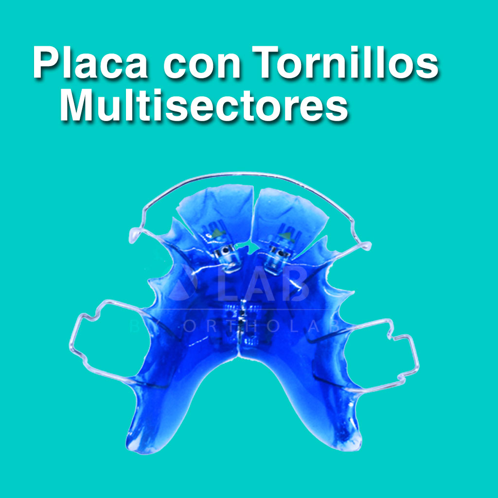 Placa con Tornillos Multisectores - Aparatología Placas Activas
