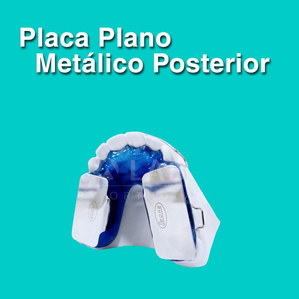 Placa Plano Metálico Posterior - Aparatología Placas Activas